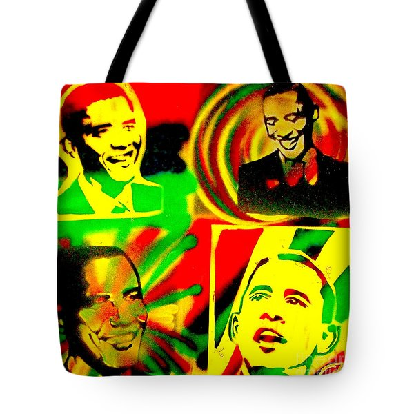 4 Rasta Obama Tote Bag by Tony B Conscious