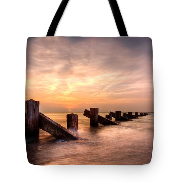 Tote Bag featuring the photograph  Abermaw Sunset by Beverly Cash
