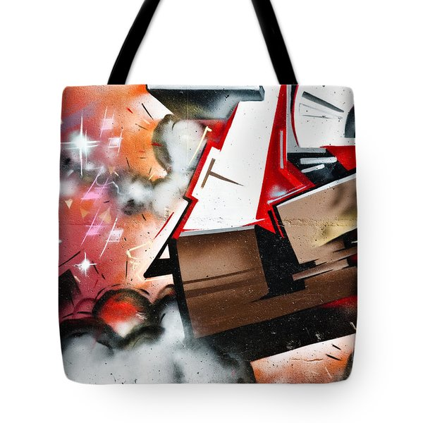 Tote Bag featuring the painting  Abstract Graffiti On The Textured Wall by Yurix Sardinelly