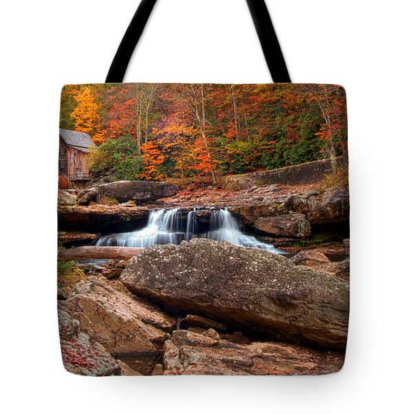 Autumn Leaves At The Mill Tote Bag