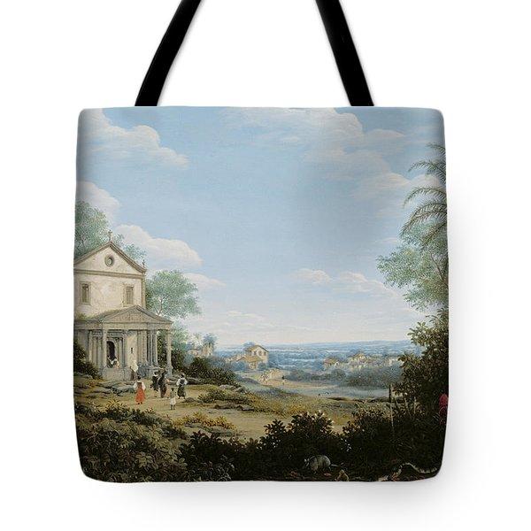 Brazilian Landscape Tote Bag by Frans Jansz Post
