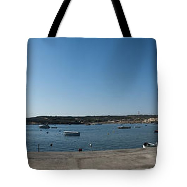 Bugibba Harbour Malta Tote Bag by Guy Viner
