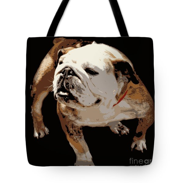 Tote Bag featuring the photograph  Bulldog  by Mindy Bench