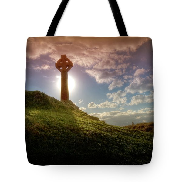Tote Bag featuring the photograph  Celtic Cross by Beverly Cash