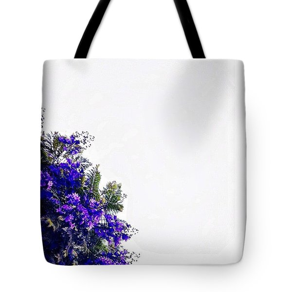 Corner Bouquet Tote Bag by Julie Gebhardt