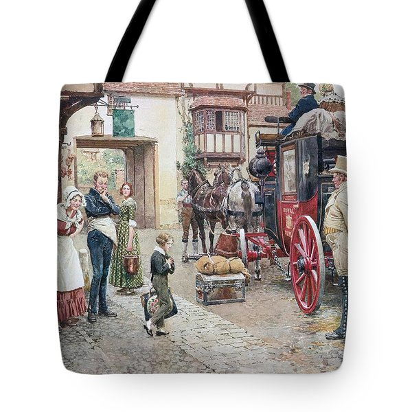 David Copperfield Goes To School Tote Bag by Fortunino Matania