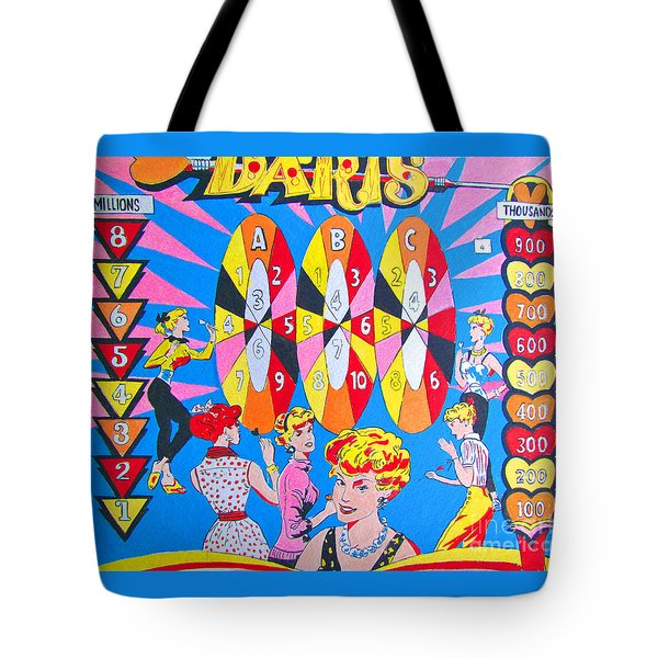 Girl Darts Tote Bag