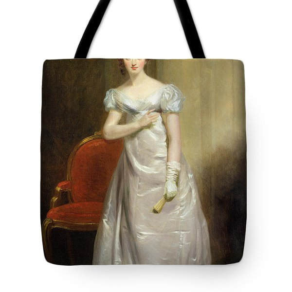 Harriet Smithson As Miss Dorillon Tote Bag by George Clint