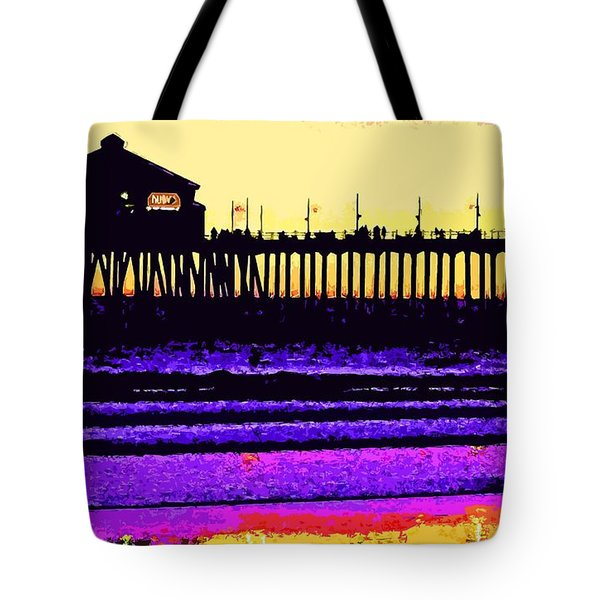 Huntington Beach Pier   Tote Bag