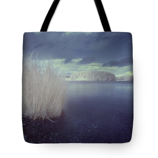 Tote Bag featuring the photograph  Infrared At Llyn Brenig by Beverly Cash