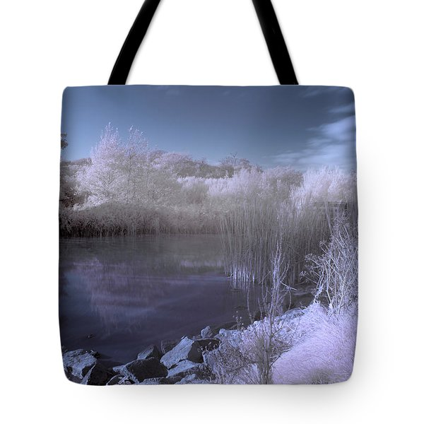 Tote Bag featuring the photograph  Infrared Pond by Beverly Cash