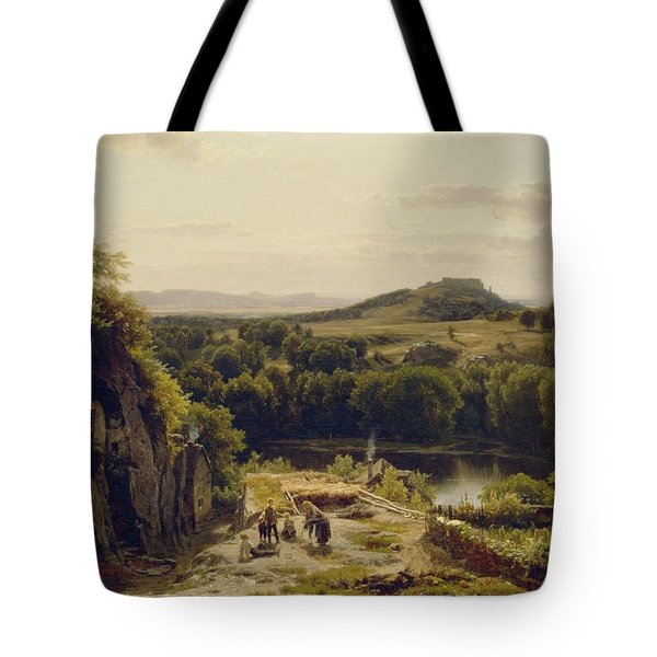 Landscape In The Harz Mountains Tote Bag