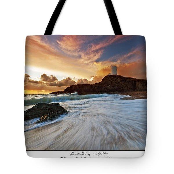 Llanddwyn Island Lighthouse Tote Bag