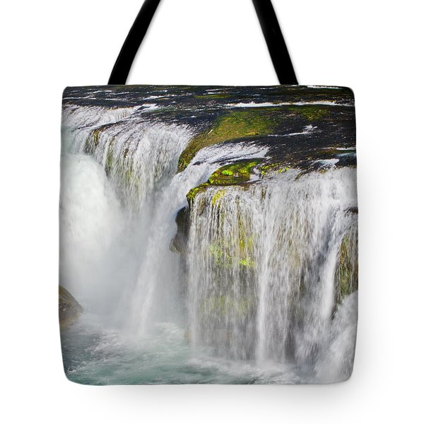 Lower Falls On The Upper Lewis River Tote Bag