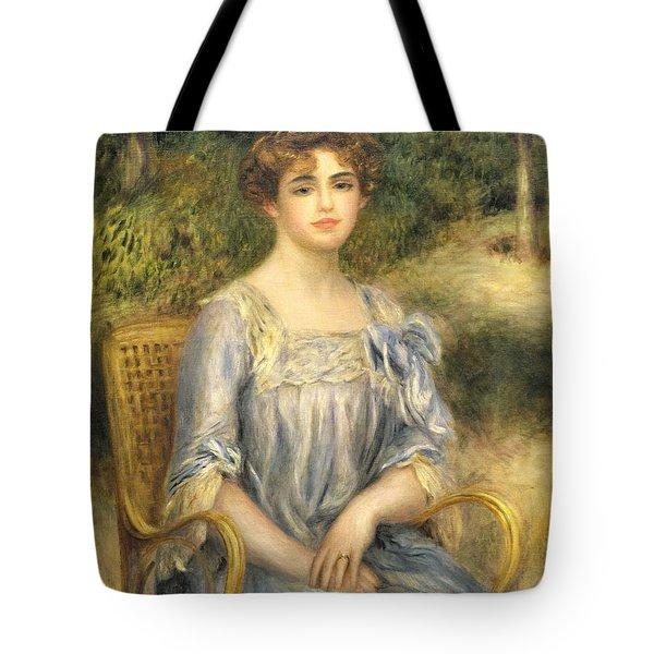 Madame Gaston Bernheim De Villers  Tote Bag by Pierre Auguste Renoir