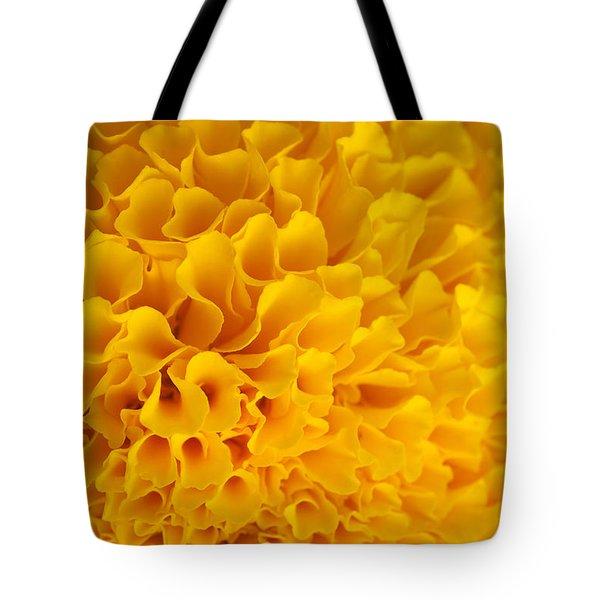 Marigold Macro View Tote Bag by Atiketta Sangasaeng