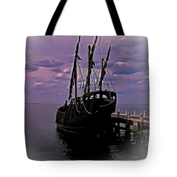 Notorious The Pirate Ship 5 Tote Bag by Blair Stuart