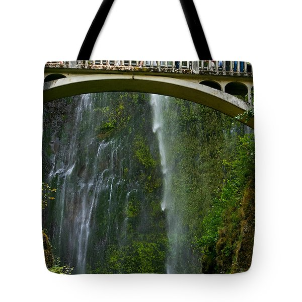 Tote Bag featuring the photograph  Over The Falls by Mitch Shindelbower
