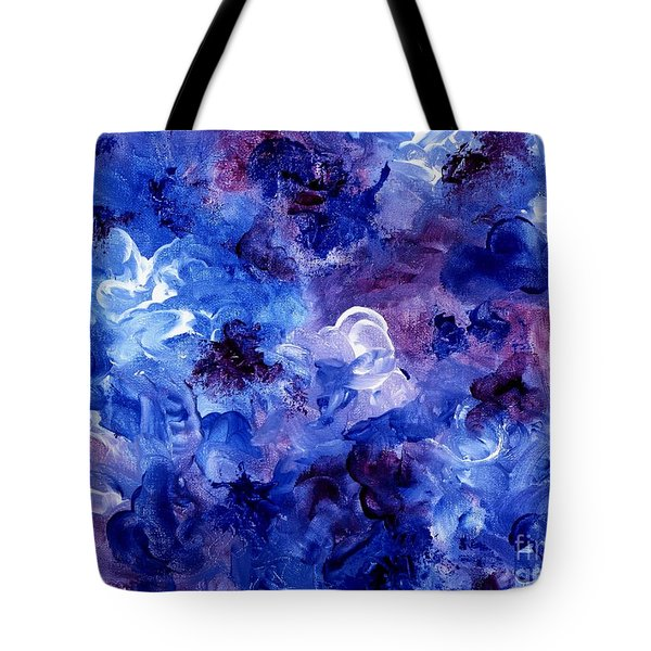 Painting Of Flowers Energy In Abstract Form Tote Bag by Annie Zeno