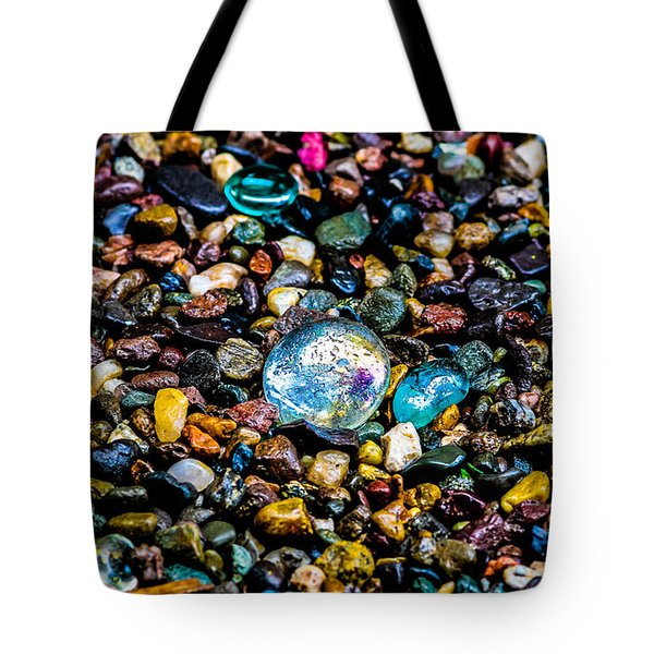 Tote Bag featuring the photograph  Pebbles  by Mitch Shindelbower