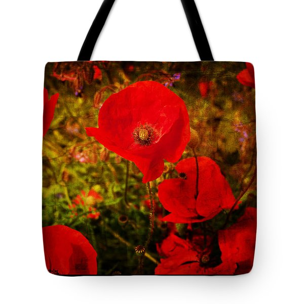 Tote Bag featuring the photograph  Poppies by Beverly Cash