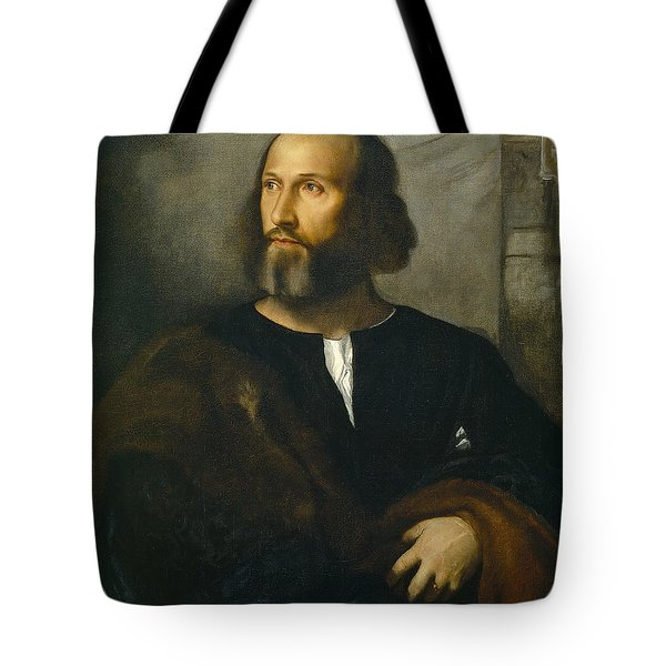 Portrait Of A Bearded Man Tote Bag by Titian