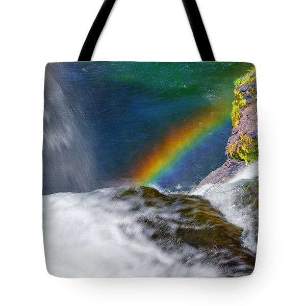 Rainbow By The Waterfall Tote Bag