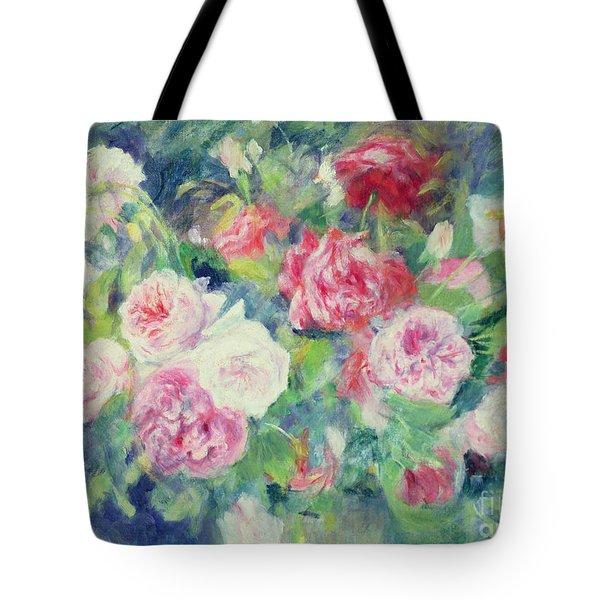 Roses Tote Bag by Pierre Auguste Renoir