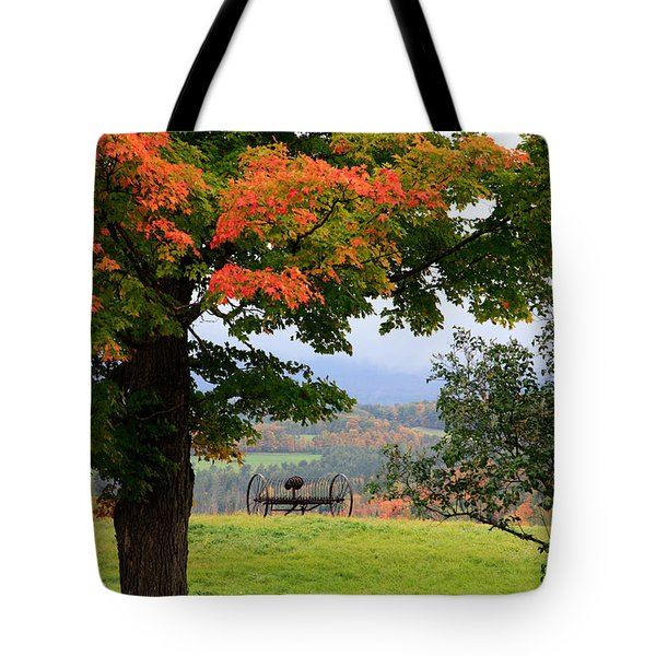 Tote Bag featuring the photograph  Scenic New England In Autumn by Karen Lee Ensley
