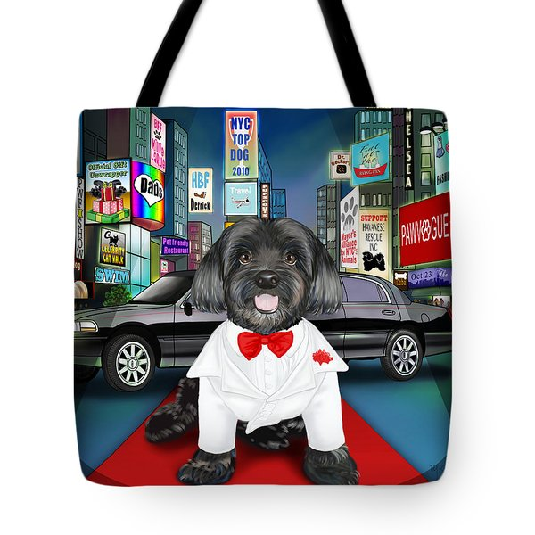Sir Cuba Of Chelsea In Times Square Nyc Tote Bag