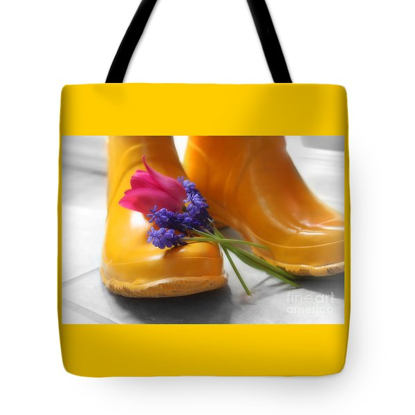 Spring Boots Tote Bag
