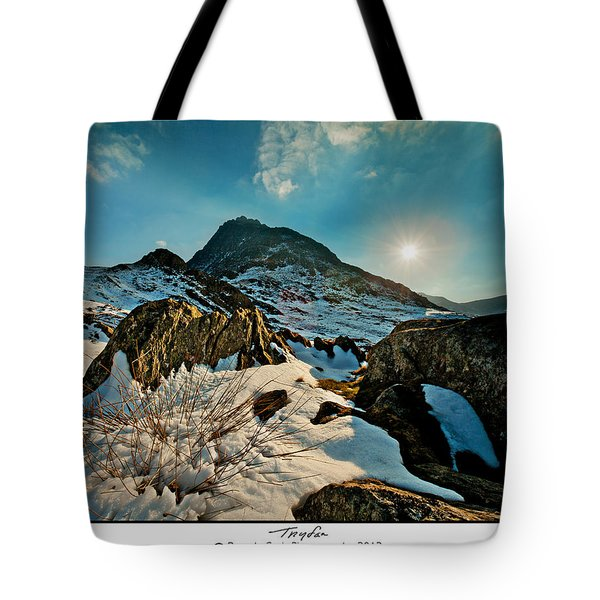 Spring Snows At Tryfan Tote Bag