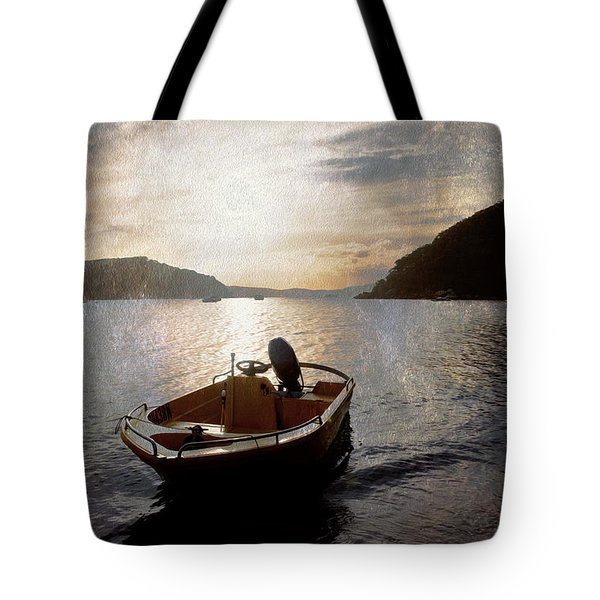 Sunset At Careel Bay Tote Bag by Avalon Fine Art Photography
