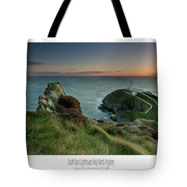 Tote Bag featuring the photograph  Sunset At South Stack Lighthouse by Beverly Cash