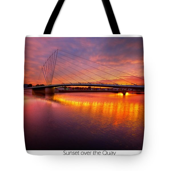Tote Bag featuring the photograph  Sunset Over The Quay by Beverly Cash