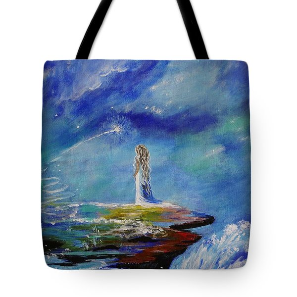 Sweet Little Wishes Tote Bag by Leslie Allen