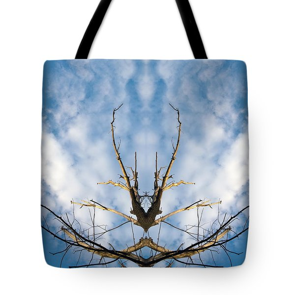 Tree And Blue Sky Tote Bag by Odon Czintos