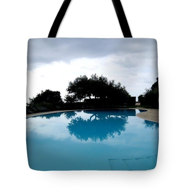 Tree At The Pool On Amalfi Coast Tote Bag by Tanya  Searcy