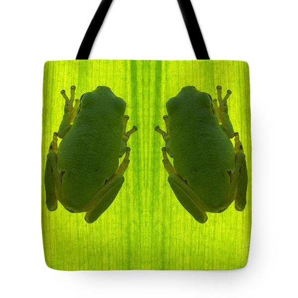 Two Tree Frog Tote Bag by Odon Czintos