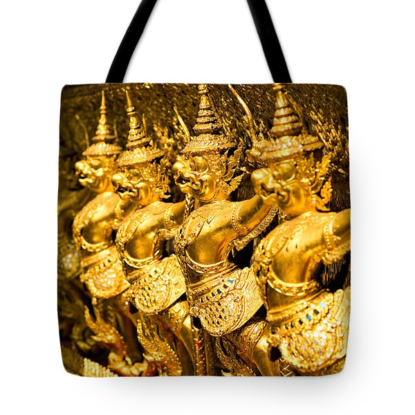 Tote Bag featuring the photograph  Wat Phra Kaeo by Luciano Mortula