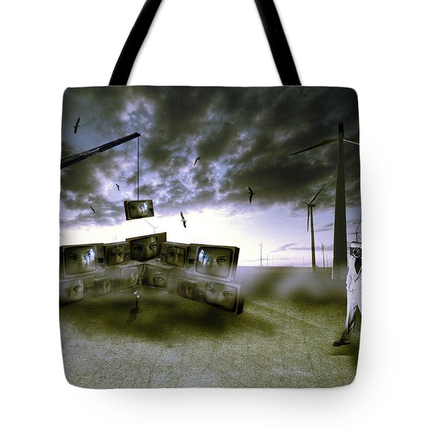 Who's Watching Who. Tote Bag by Nathan Wright
