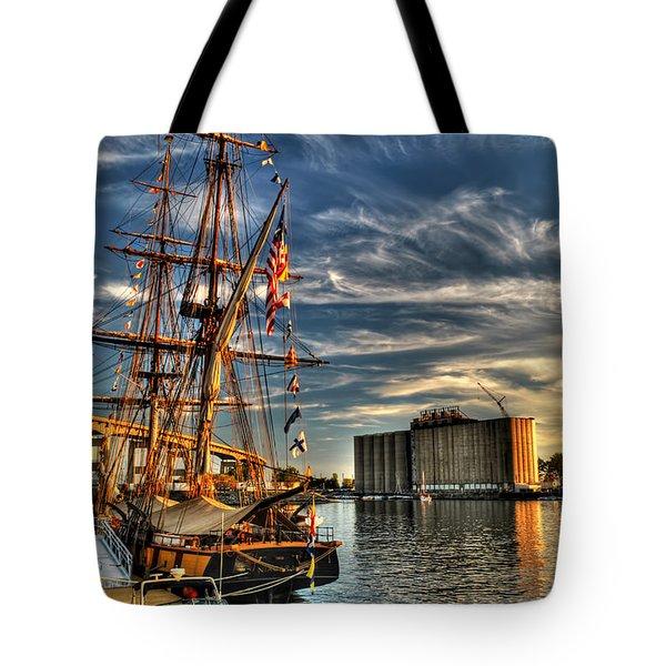 013 Uss Niagara 1813 Series Tote Bag by Michael Frank Jr
