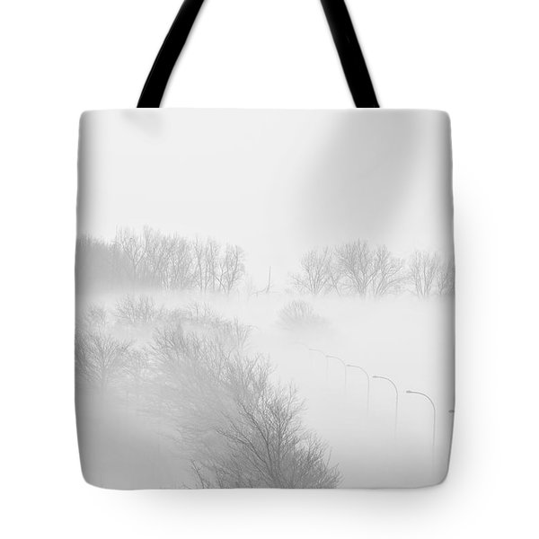 023 Buffalo Ny Weather Fog Series Tote Bag by Michael Frank Jr