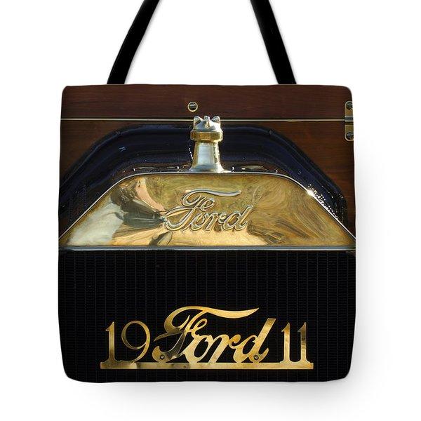 1911 Ford Model T Torpedo Hood Ornament Tote Bag by Jill Reger