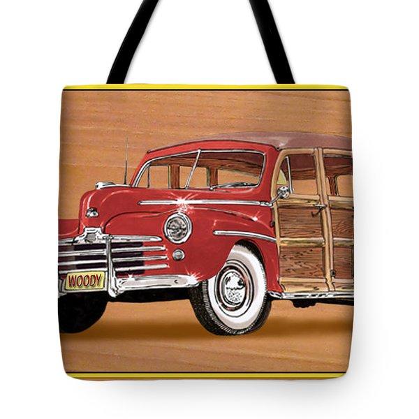 1946 Ford Woody Tote Bag by Jack Pumphrey