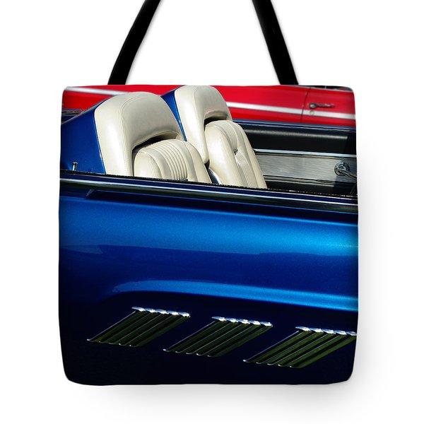 1963 Thunderbird Convertible Tote Bag by Peter Piatt
