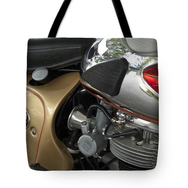 1966 Bsa 650 A-65 Spitfire Lightning Clubman Motorcycle Tote Bag by Jill Reger