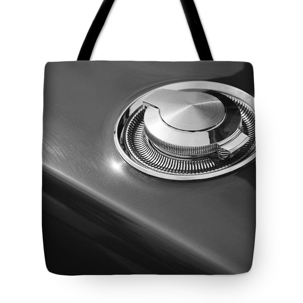 Tote Bag featuring the photograph 1968 Dodge Charger Fuel Cap by Gordon Dean II