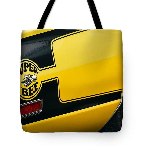 Tote Bag featuring the photograph 1970 Dodge Coronet Super Bee by Gordon Dean II