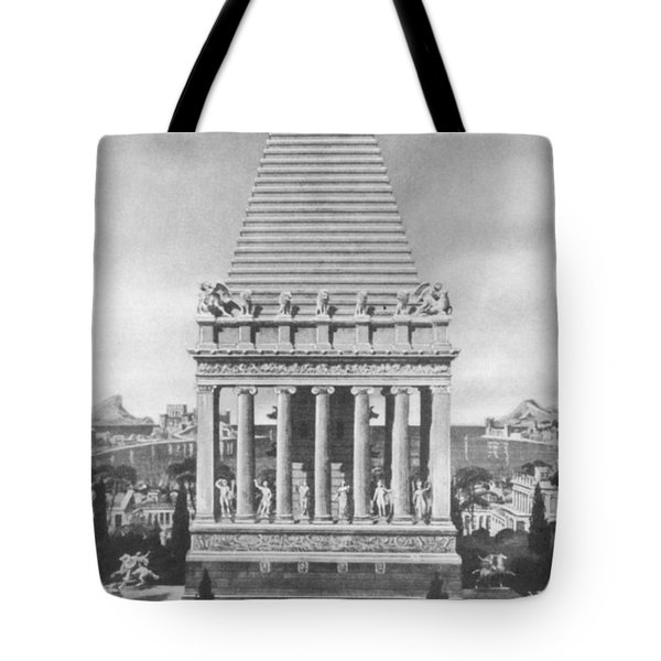 7 Wonders Of The World, Mausoleum Tote Bag by Photo Researchers